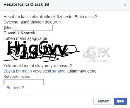 facebook hesabımı kalıcı olarak sil