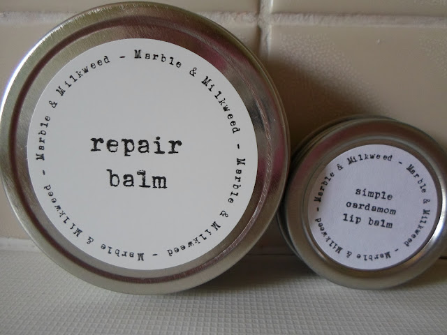 Review Marble & Milkweed Repair Balm & Lip Balm