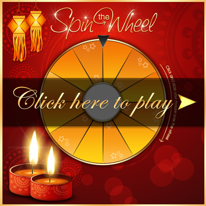 Spin the Diwali Lucky Wheel and WIN exciting Prizes