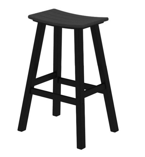POLYWOOD Contempo 30 inch Saddle Bar Stool