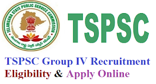 TSPSC Group 4 Notification 2017 Eligibility Criteria & Apply Online for tspsc.gov.in