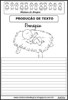 Produção de texto presépio