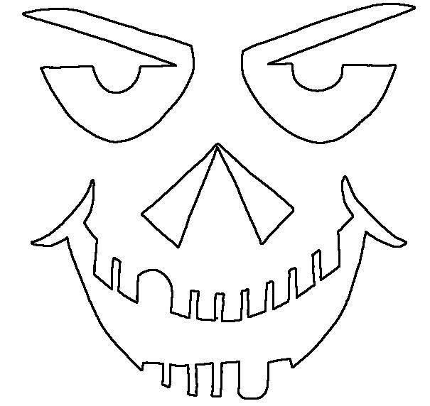 pumpkin coloring pages faces - photo#28