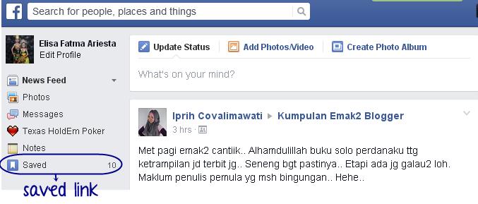 Fitur Save Link Facebook