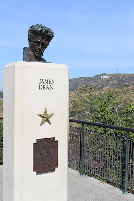 James Dean bust at the Griffith Observatory