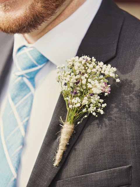 D.I.Y baby's breath boutonniere