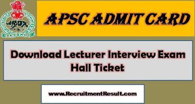 APSC Admit Card