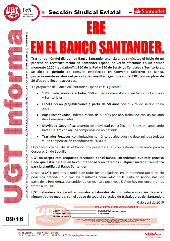 Ugt banco santander catalunya banco santander el for Banco santander sucursales barcelona