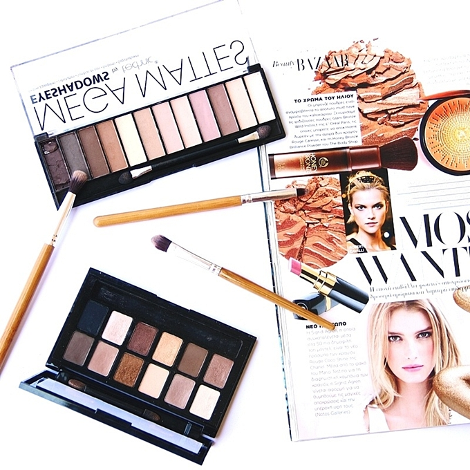 Maybelline the nudes palette.Technic cosmetics nude eyeshadow palette.