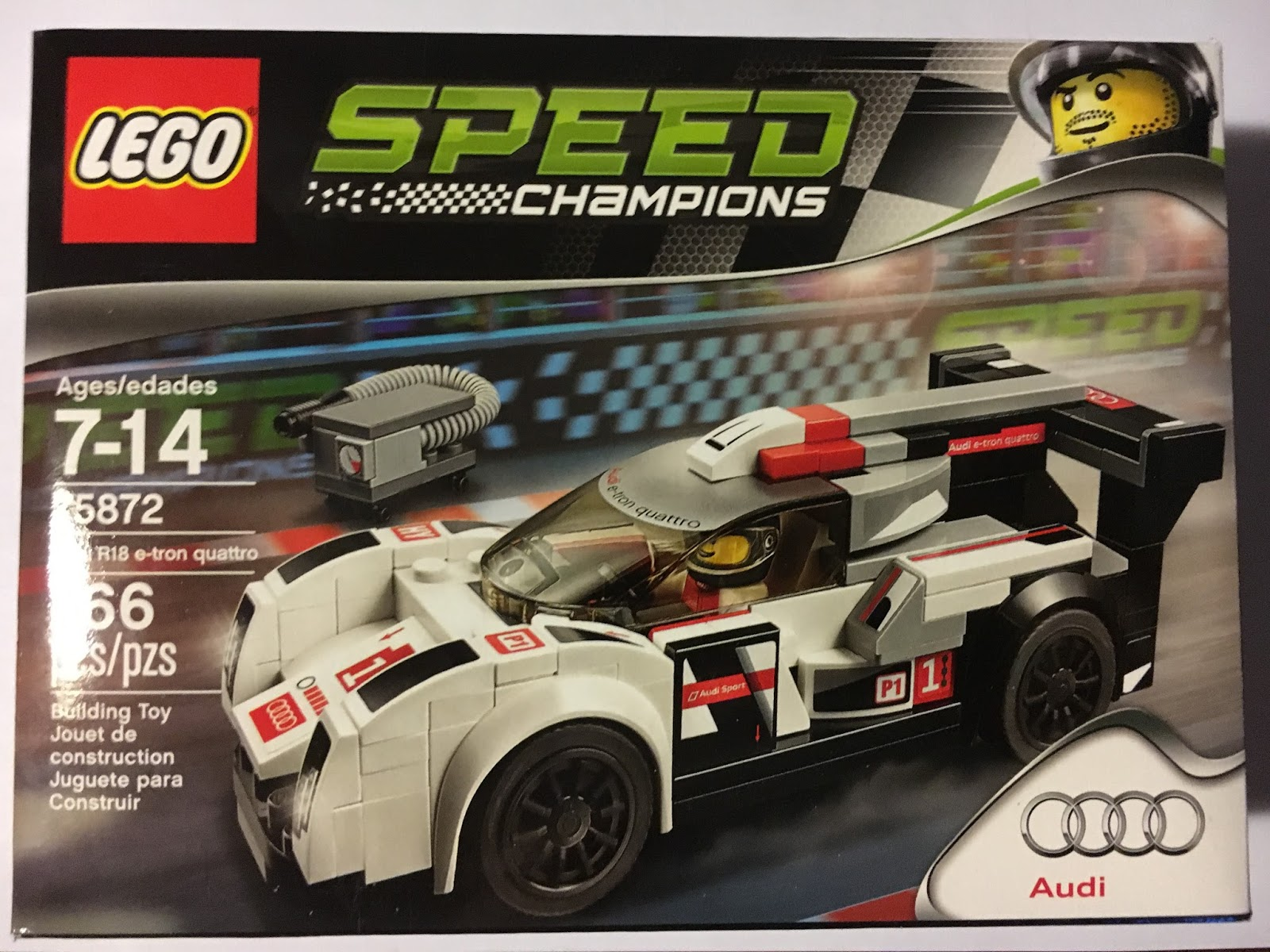 Lego 75872 Speed Champions Audi R18 E Tron Quattro 75873 R8 Lms Ultra Box Contains Includes An Racing Driver Minifigure