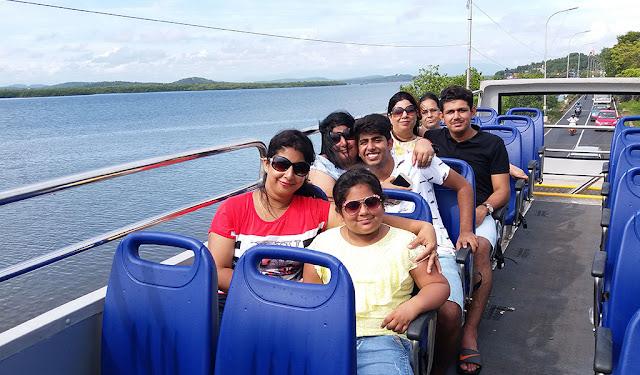 HOHO Goa bus tourists