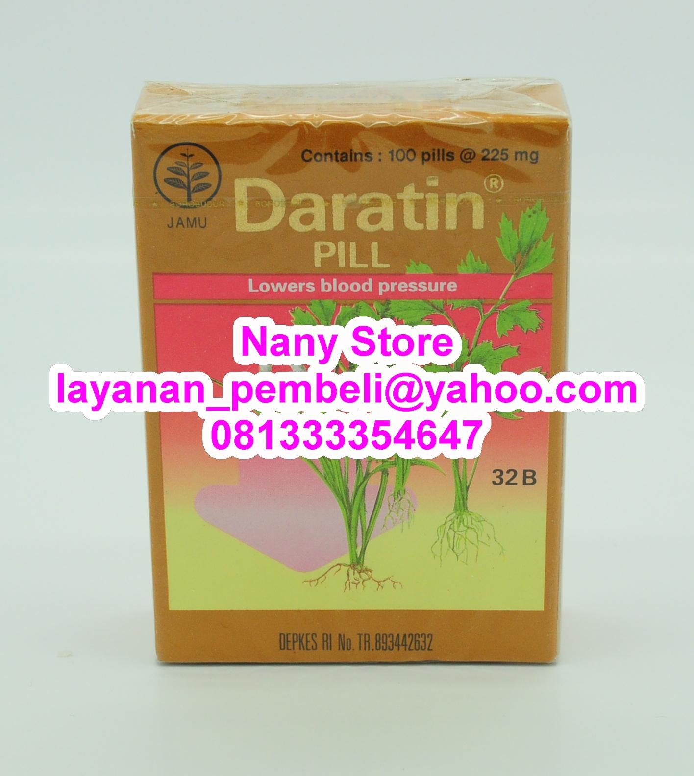 Nany Store: DARATIN PIL Obat Hipertensi Herbal Dan Jamu