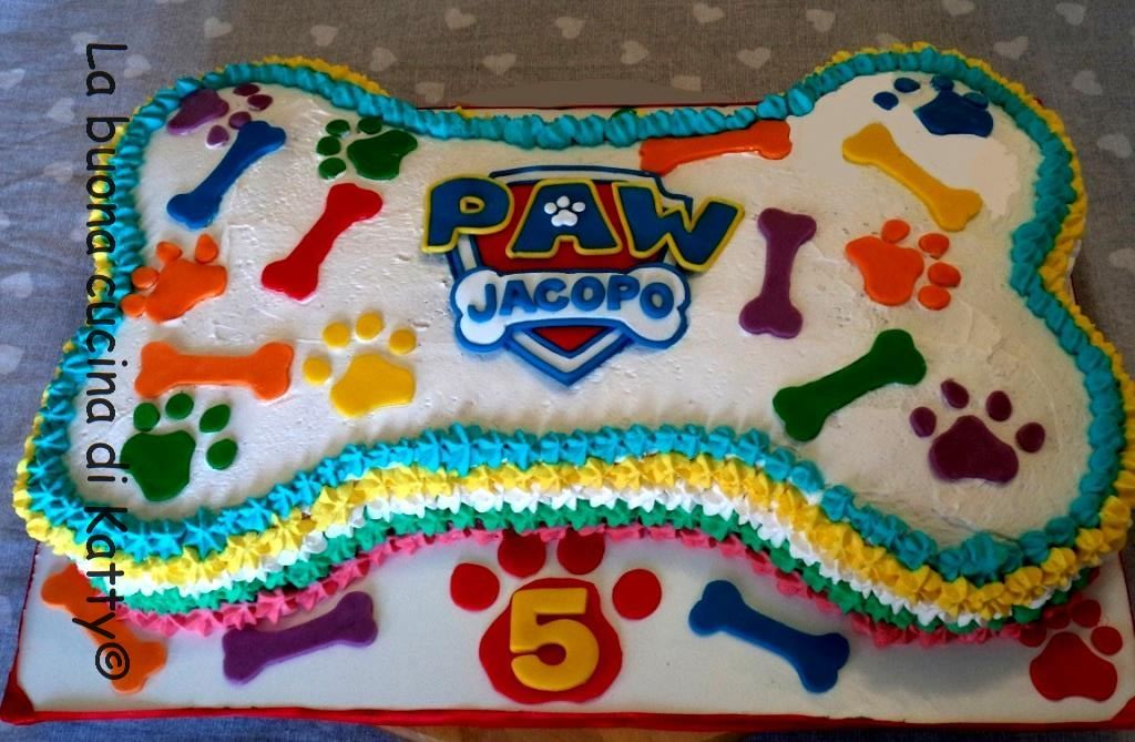 Ben noto Katty's cakes - Le torte di Katty : Torta osso Paw Patrol - Bone  RT36