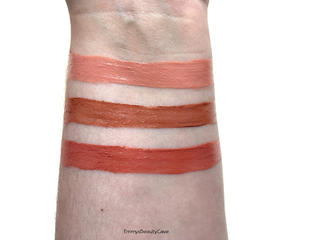 L'Oreal Matte Lip Paint Off White Swatch, L'Oreal Matte Lip Paint Babe In Swatch, L'Oreal Matte Lip Paint Dead Lip Swatch