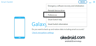More > Preferences Smart Switch Samsung