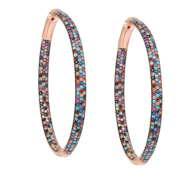 Multi-Color Diamond Hoops