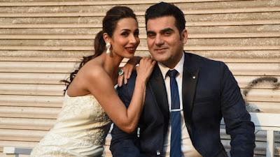 अरबाज़ खान और मलाइका अरोड़ा खान एक फाेटोशूट के दौरान