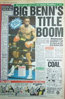Back page of the Sunday Sport newspaper from 6th December 1987