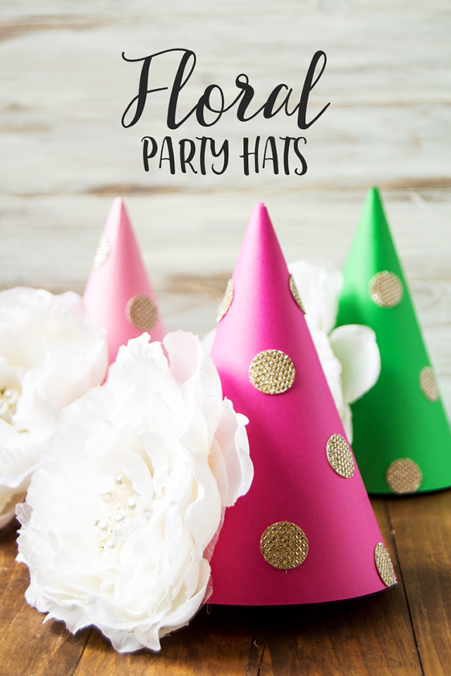 floral party hat craft main image