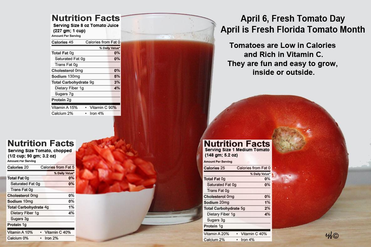 April 6 is Fresh Tomato Day.