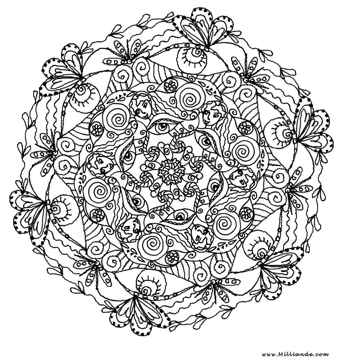 - Advanced Mandala Coloring Pages