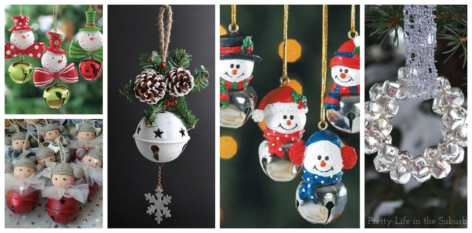 21 ideas de c mo hacer adornos navide os con cascabeles - Ideas adornos navidenos ...