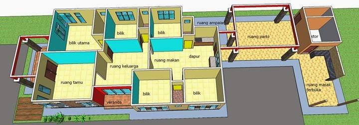 Banglo Mengikut Bentuk Keluasan Tanah Rumah Barjet Cantik