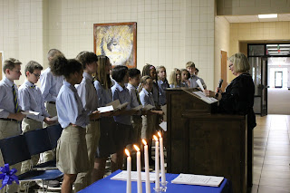 Montgomery Catholic's National Junior Honor Society Welcomes New Members 2