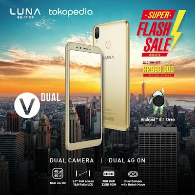 LUNA V Dual smartphone harga di bawah 1 juta