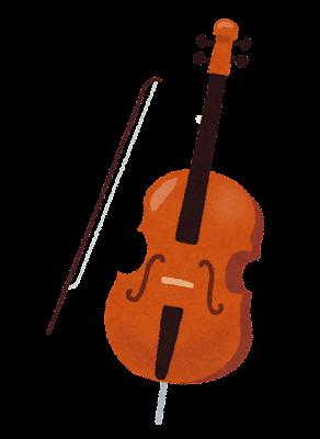 チェロのイラスト(音楽)