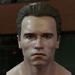 Arnold Schwarzenegger head 3D model