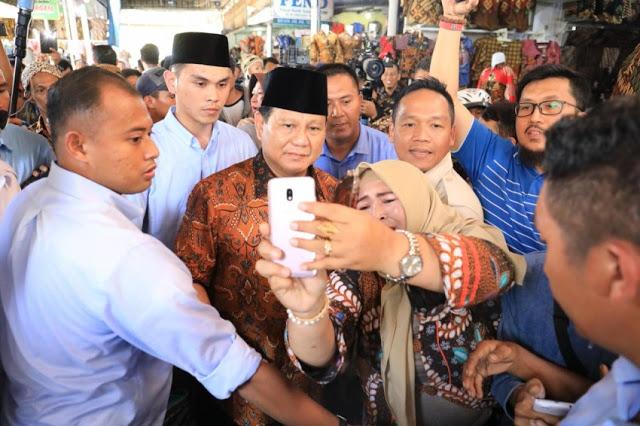 Simulasi Pilpres 2019: Jokowi Kuasai Kompleks Perumahan, Prabowo Raja di Pasar