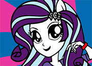 Colorear a Rarity Equestria Girls