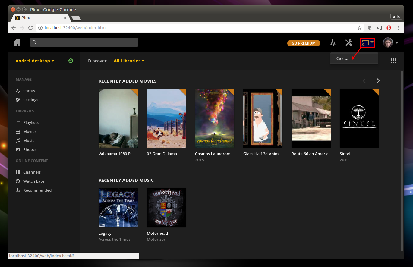 How To Use Plex To Cast Local Videos To Chromecast (From