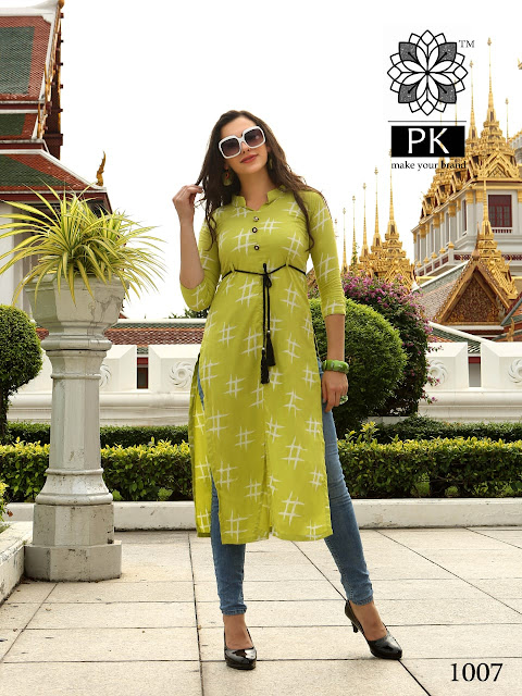 PK Liva Rayon casual wear kurtis catalog