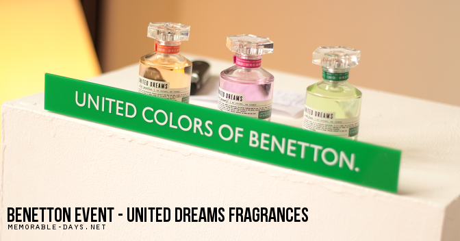 64216e6a47d3 Benetton Event - United Dreams Fragrance | Memorable Days : Beauty ...