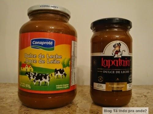 doces de leite uruguaios - Conaprole e Lapataia