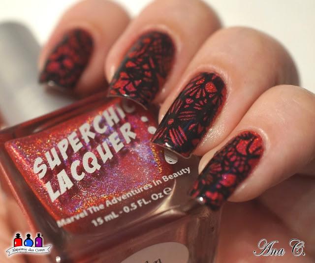 SuperChic Lacquer, Realm of Erotica, Cici&Sisi 31, delicate motif