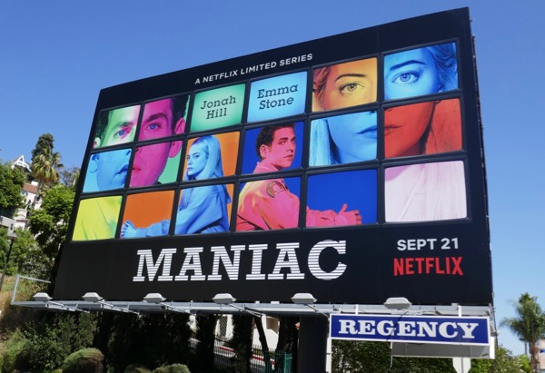 Maniac series premiere billboard