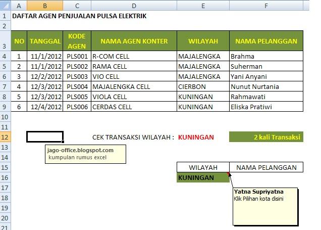 Rumus Excel Cek Rekap Transaksi Pulsa Rumus Excel Lengkap