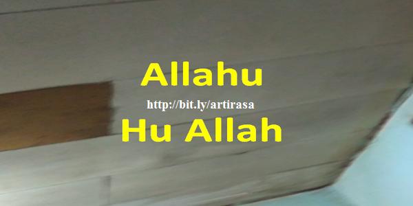 zikir ma`rifat Allahu Hu Allah