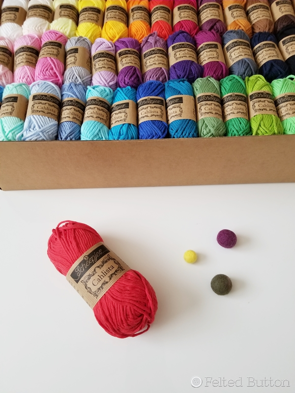 Scheepjes Cahlista yarn -- 100% cotton, 15g and 50 g balls