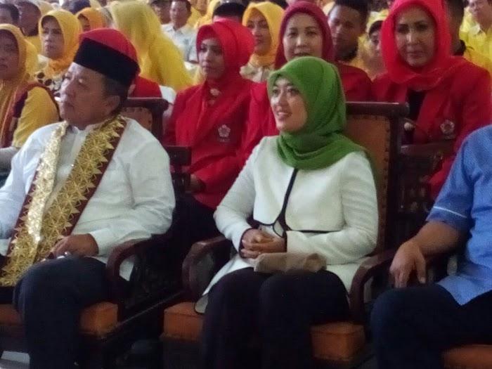 Arinal Nunik Menggelar Kembali Jalan Sehat Di Kab Lampung Barat