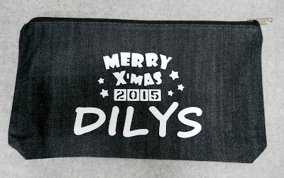 Pencil denim pouch With name and Christmas Greetings