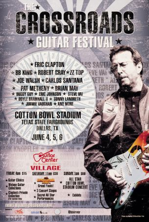 Eric Clapton To Host 4th Crossroads Guitar Festival On