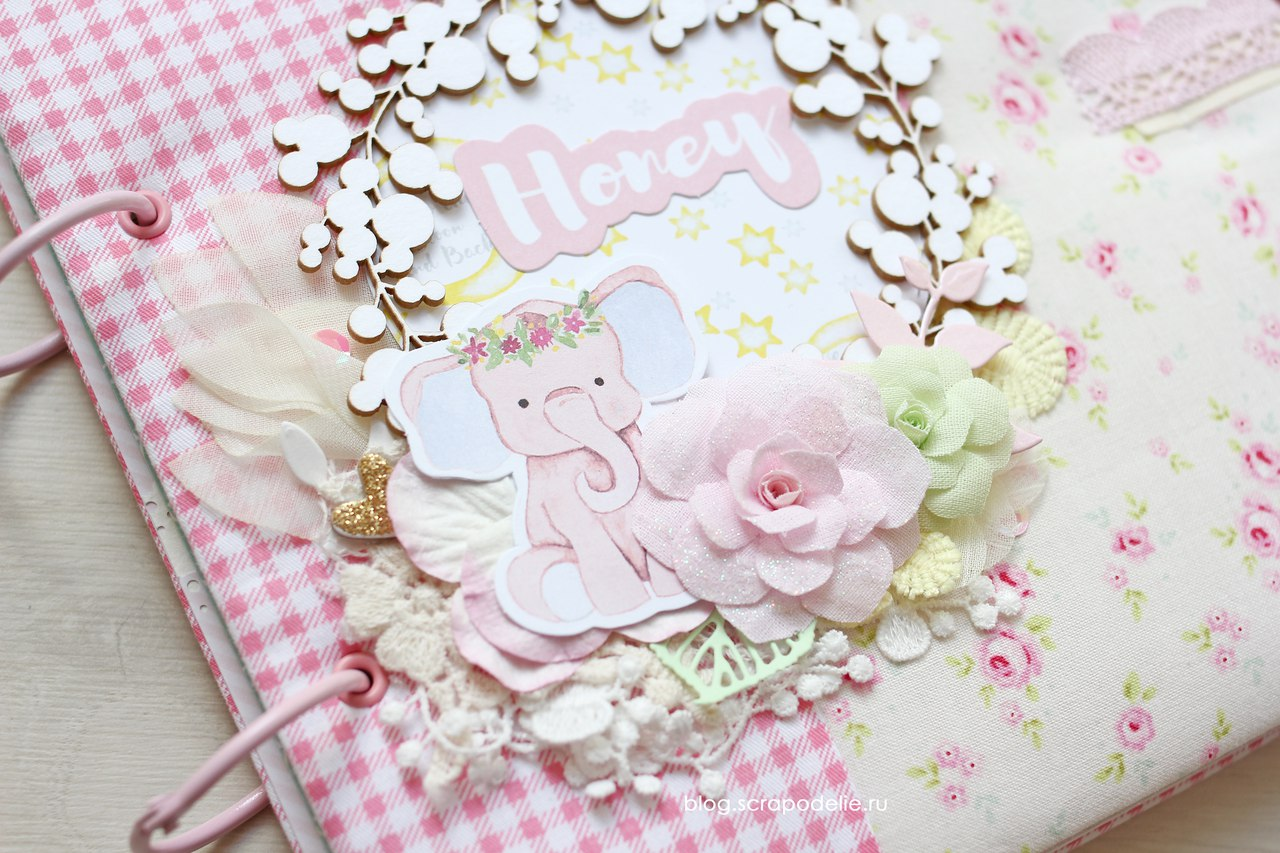 Альбом для девочки Little Elephant обложка детали