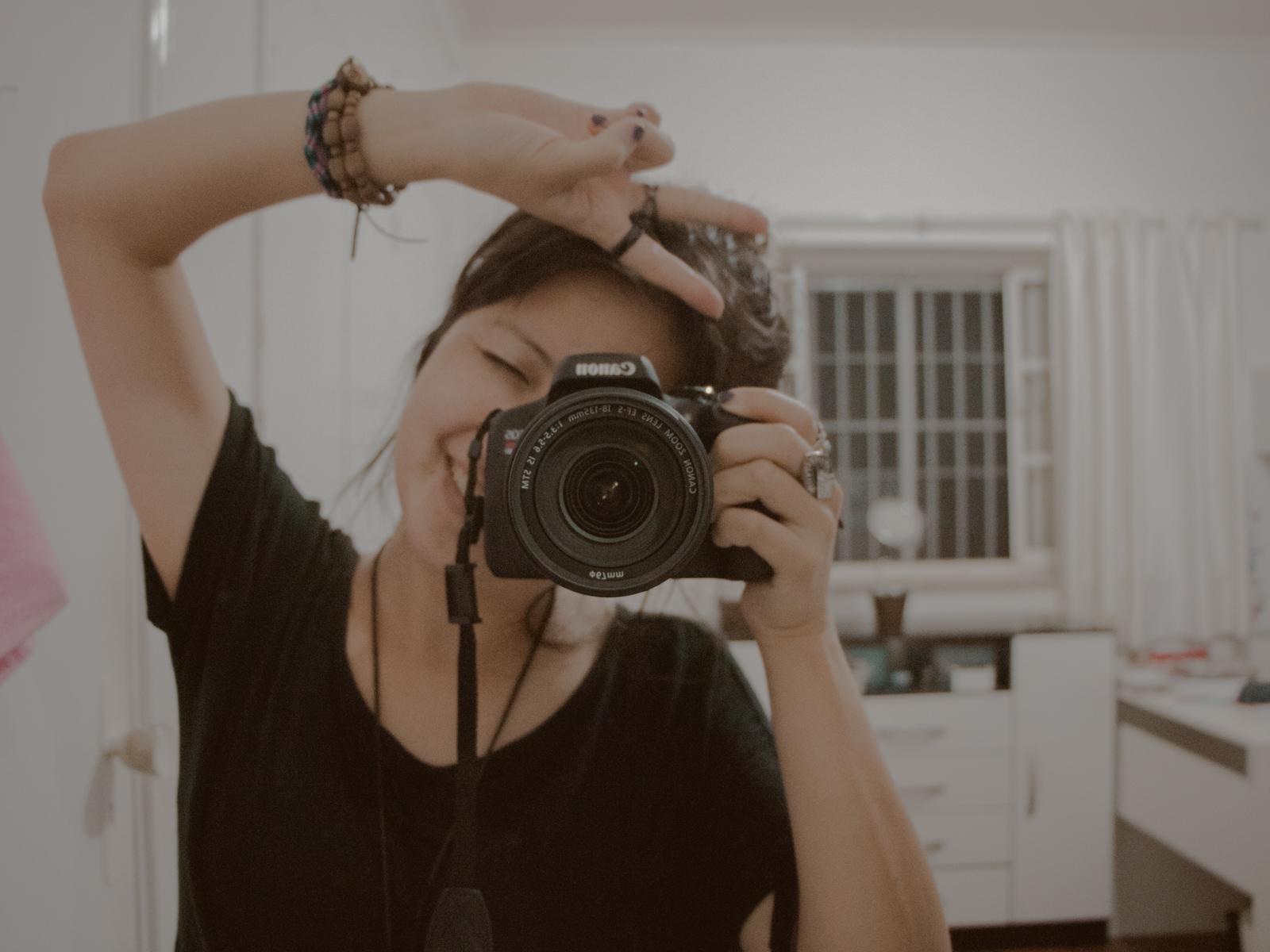 fotografando no espelho