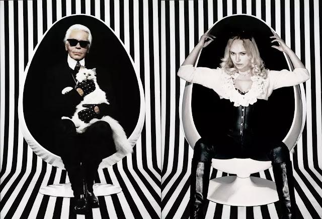 Karl Lagerfeld with Eleonora de Gray for Runway Magazine