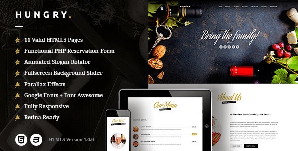Free HTML Restaurant Template