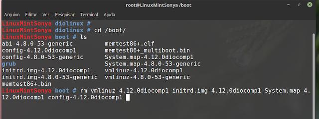 removendo kernel compilado